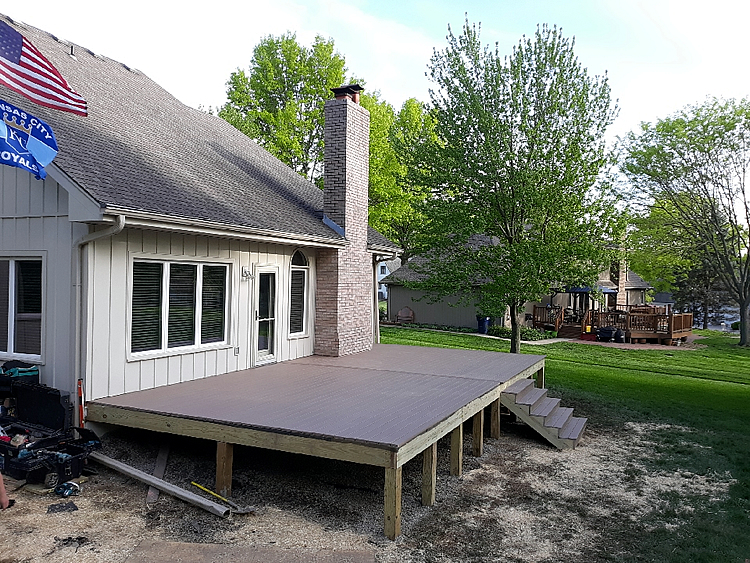 new deck structure and composite decking