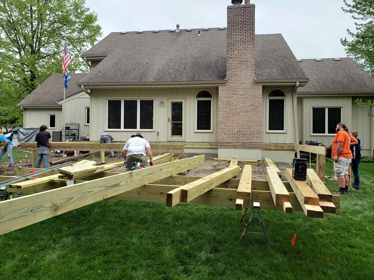 new deck in Blue Springs, Missouri