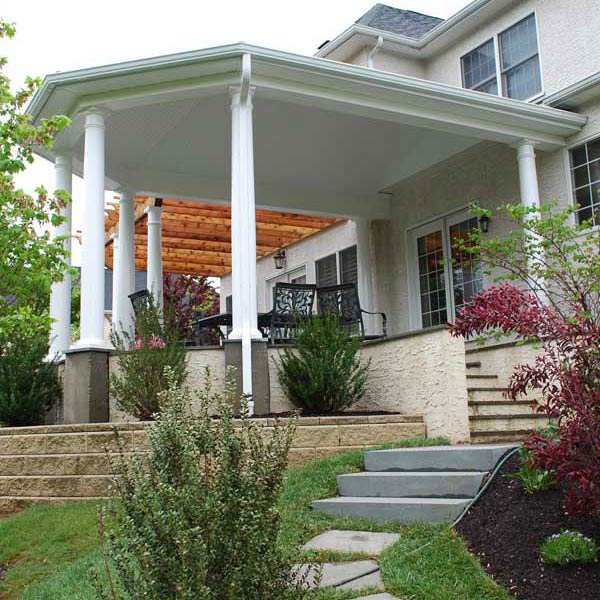 covered porch reston