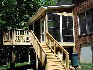 Winston Salem Glenridge screened porch and deck