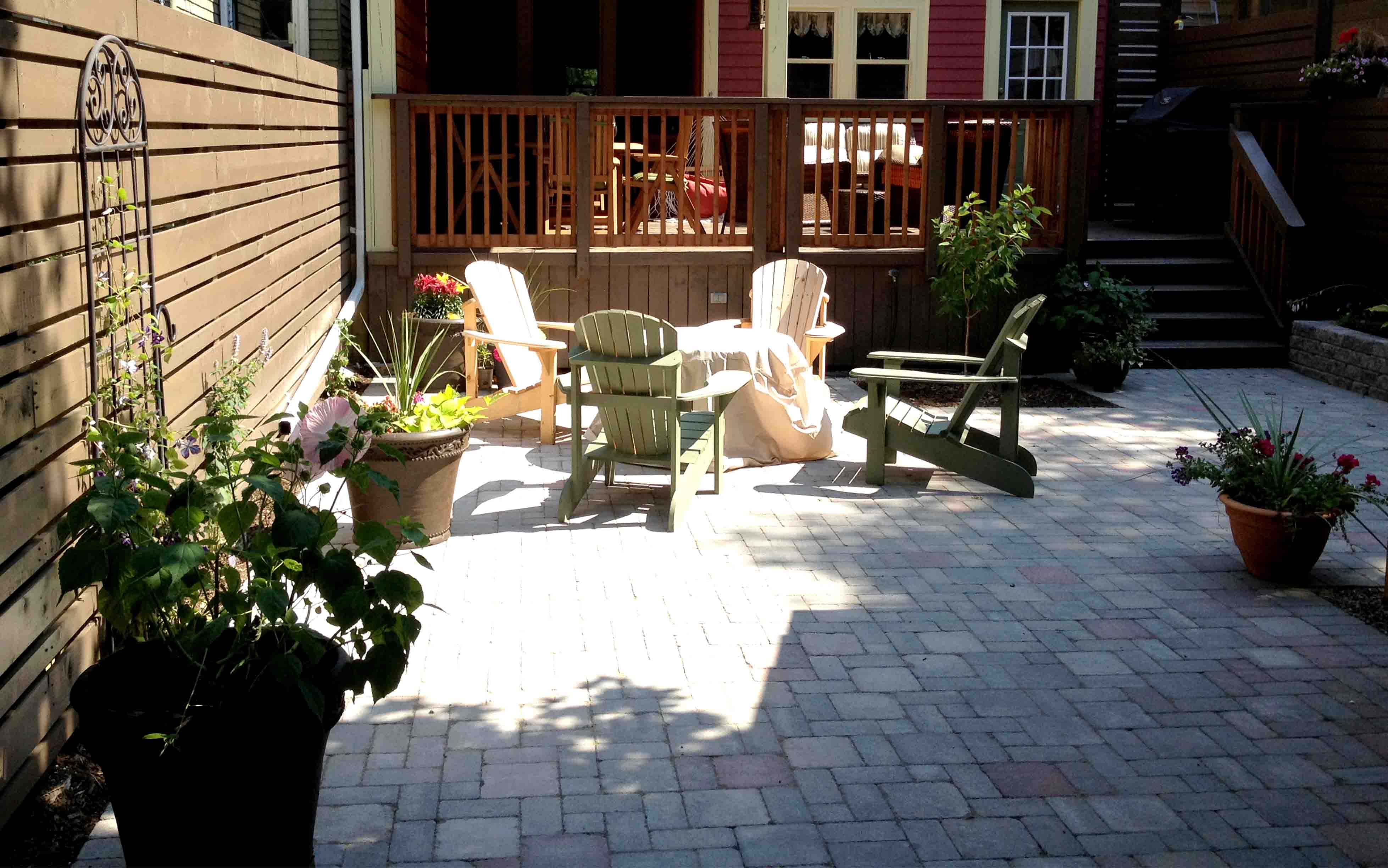 patio yards landscaping patios ideas of small for images backyard and vuitton landscape louis