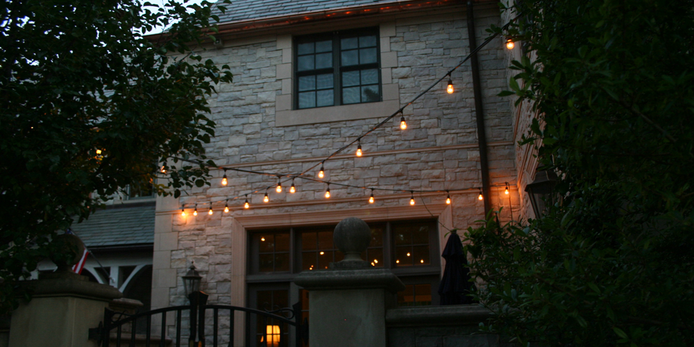 String Patio Lighting in Wake Forest, NC