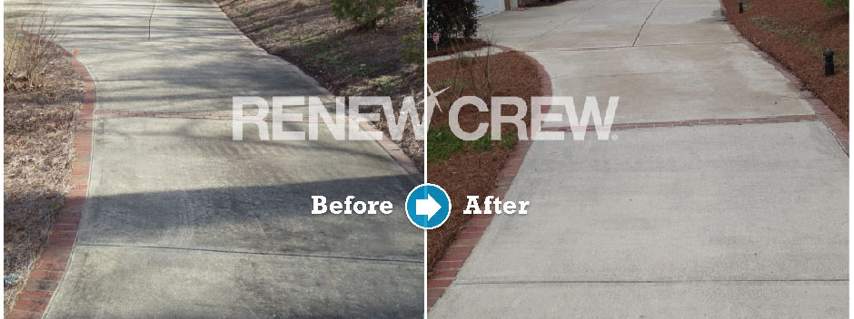 concrete sidewalk cleaning and sealing Charlotte NC