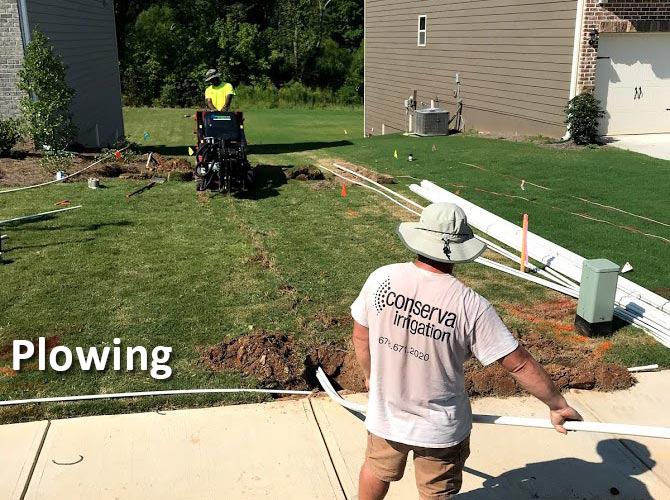 plowing excavator