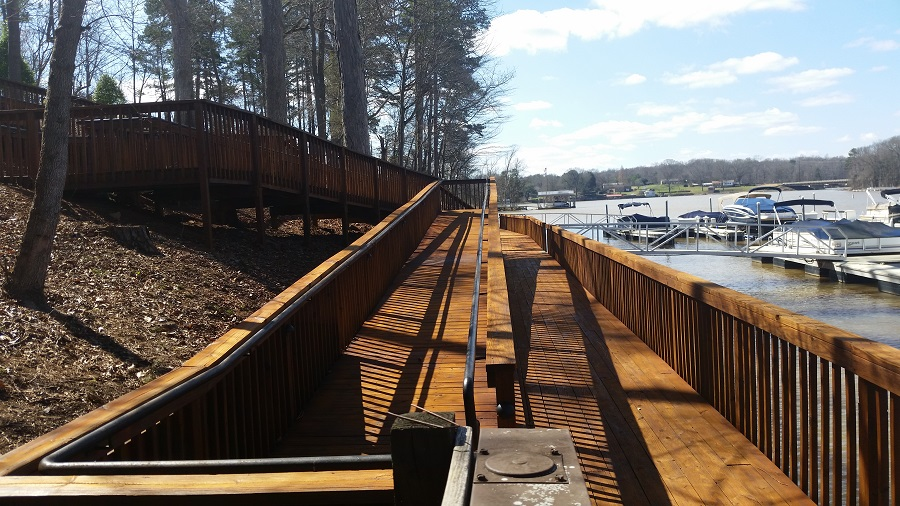 dock cleaning at Lake Norman