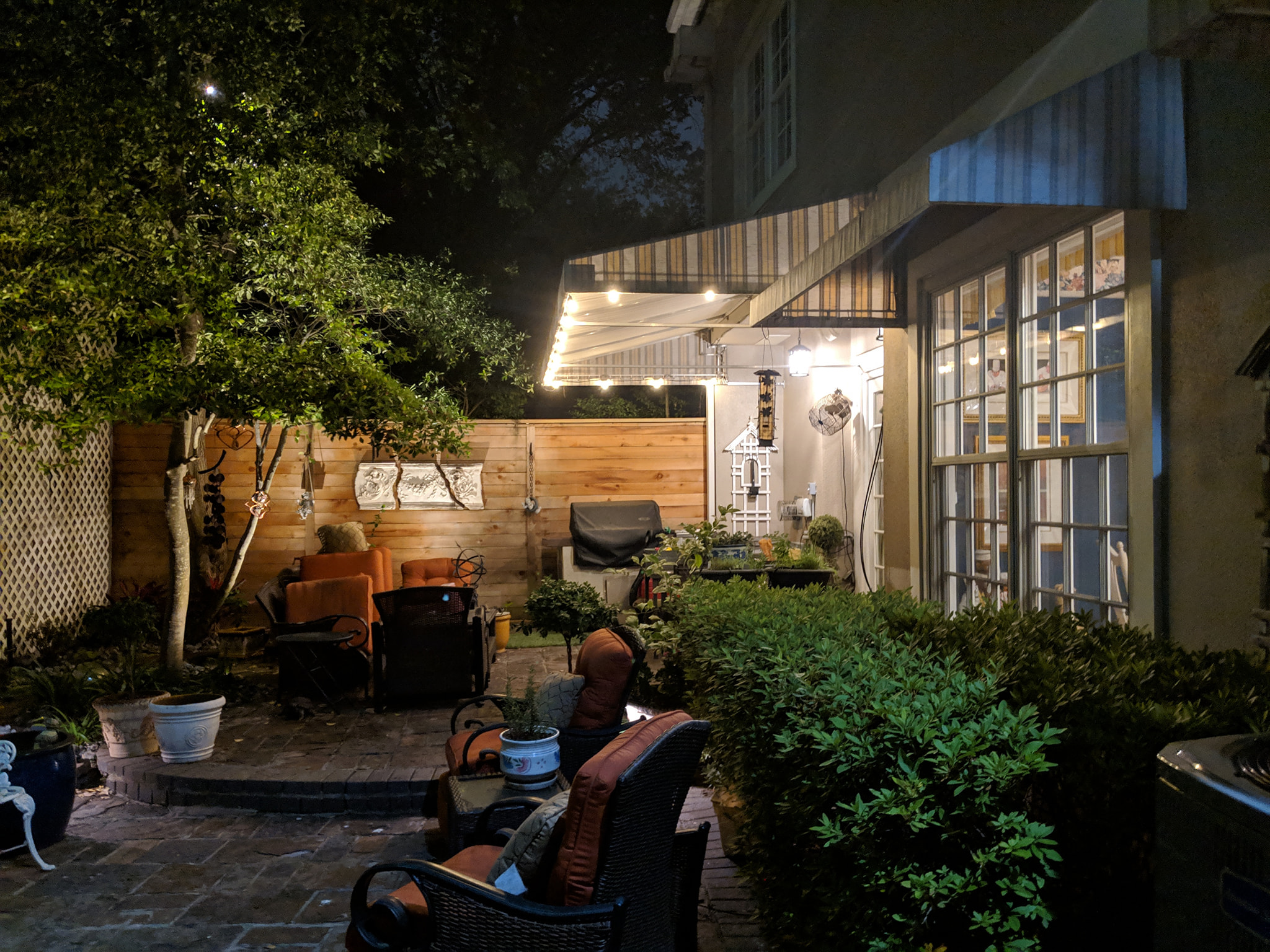 Houston outdoor living lighting