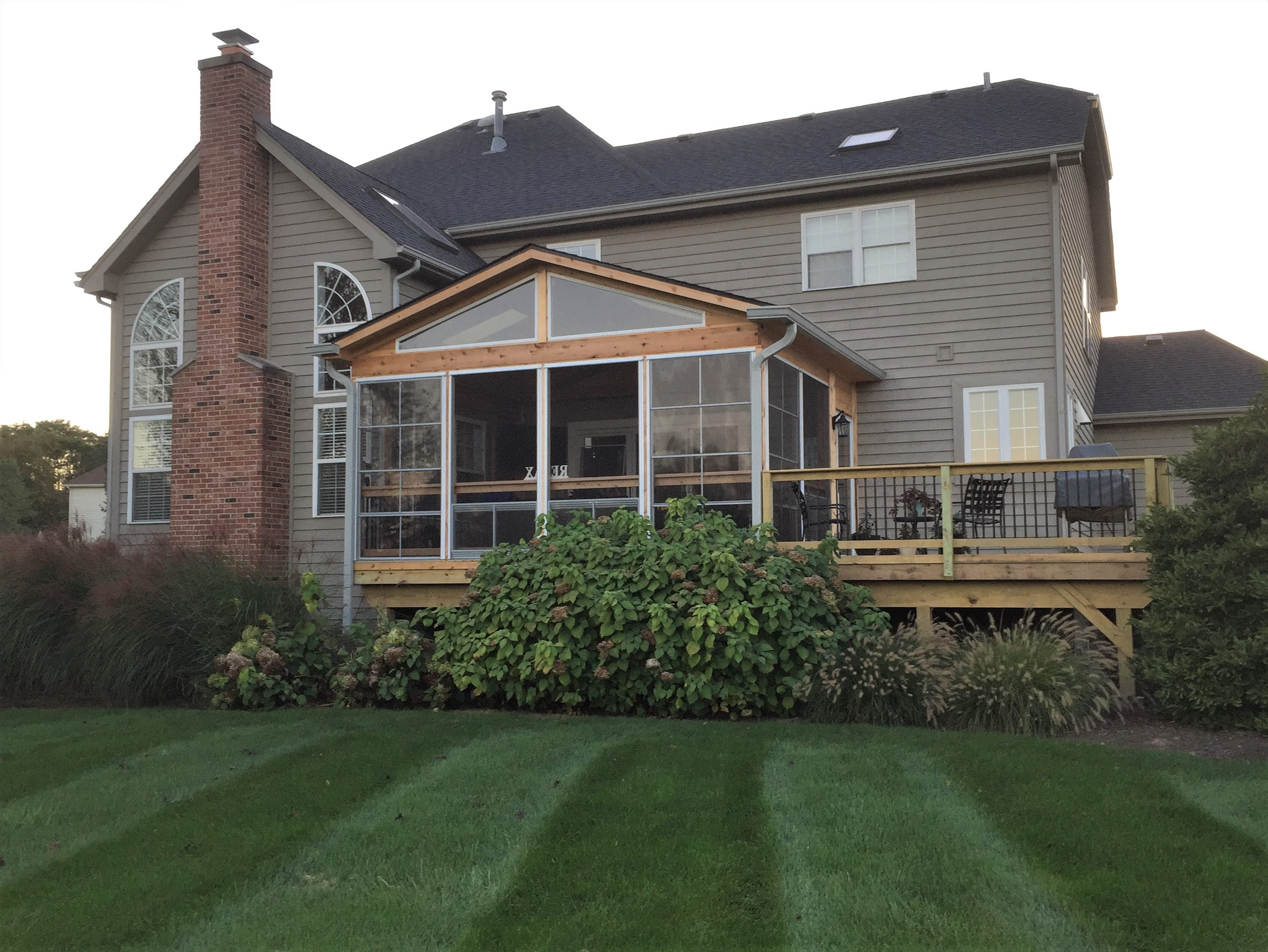 Screen Porch and Wood Deck combination in St. Charles, IL Thumbnail