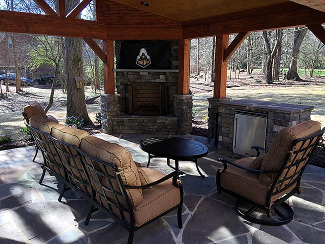 porch types - pavilion, covered porch, patio