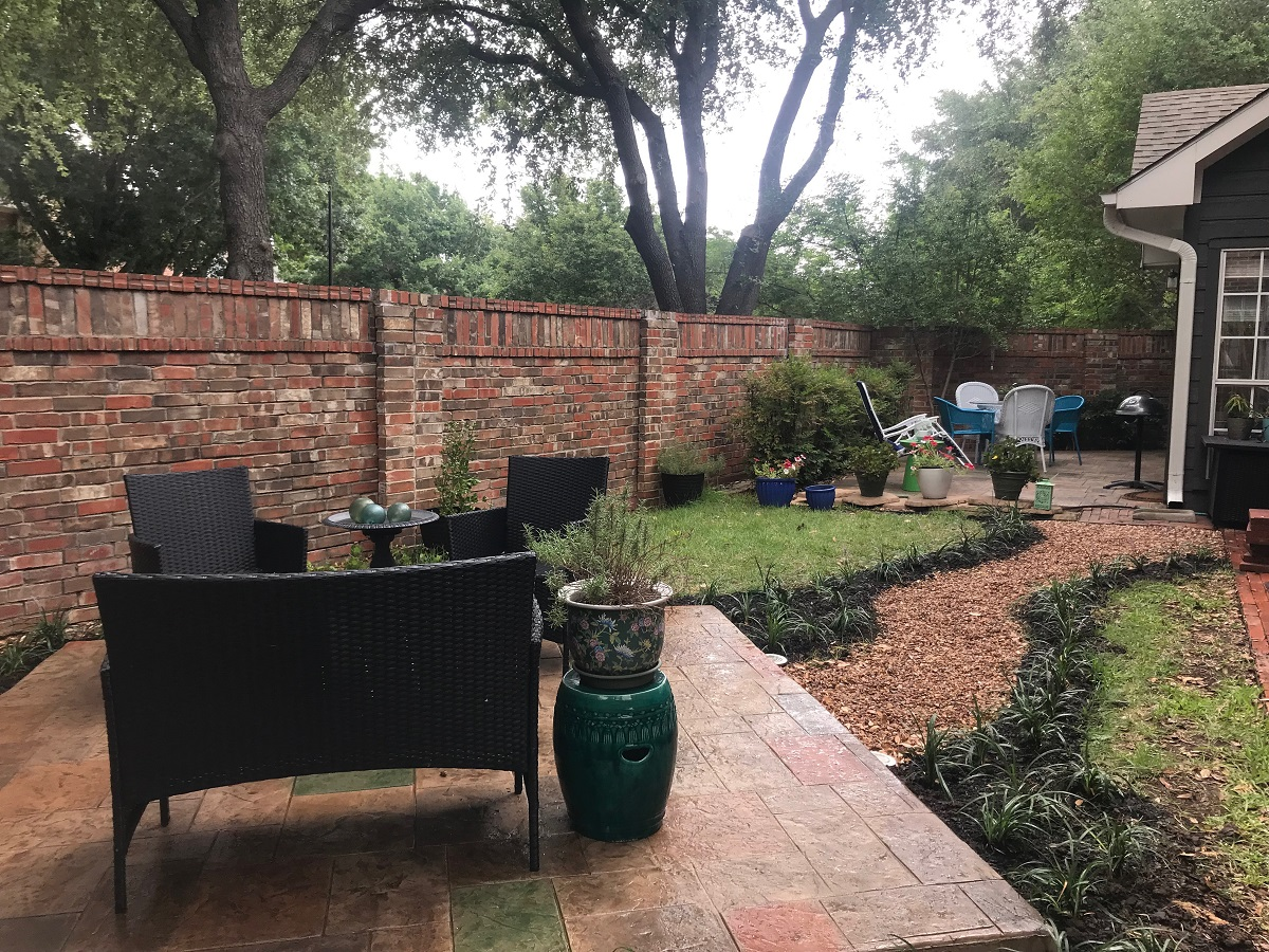 Addison-TX-matching-custom-stain-and-stamp-garden-patios