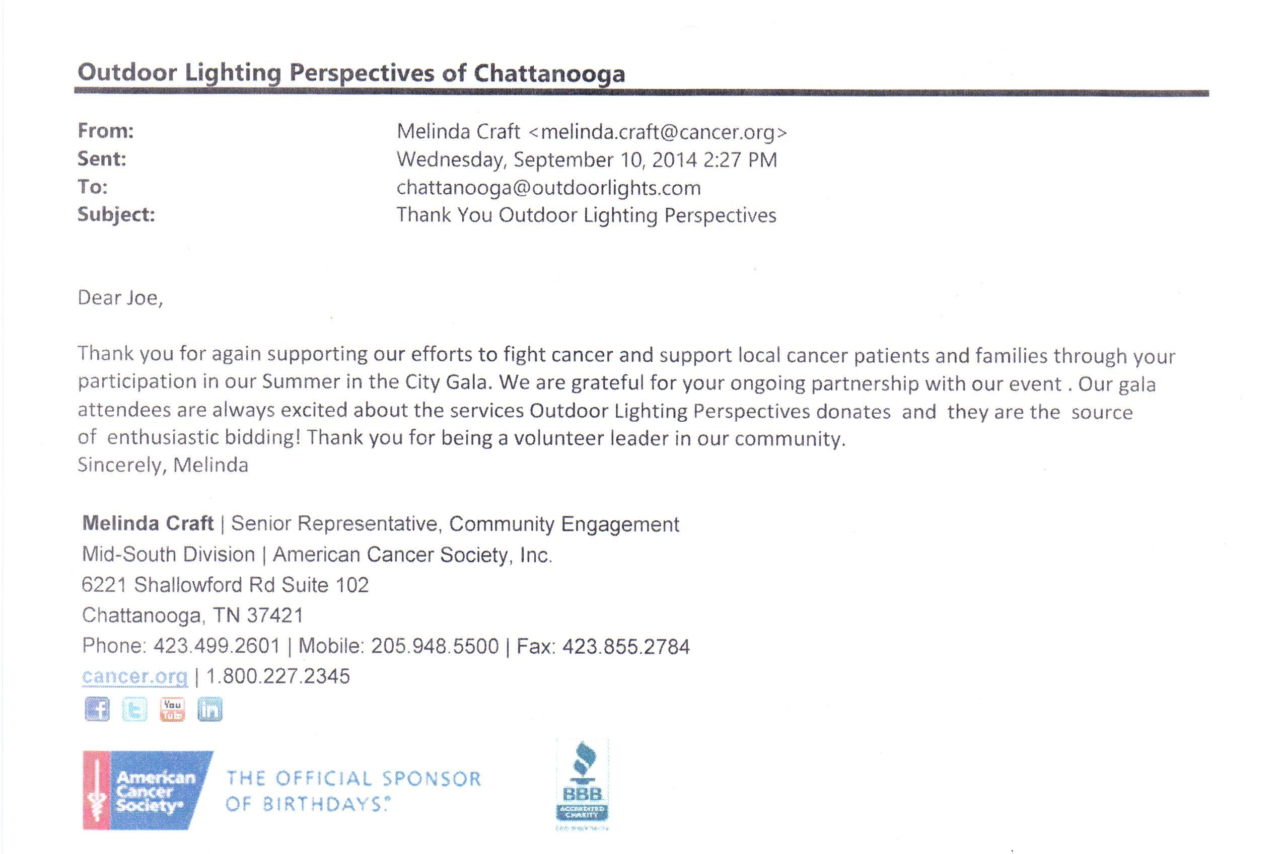 Olp Gives Back  Outdoor Lighting Perspectives