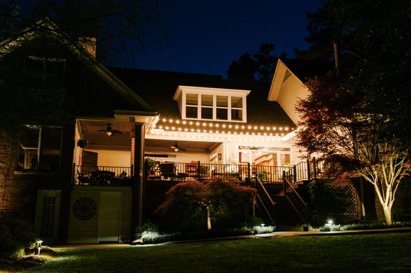 backyard deck lighting