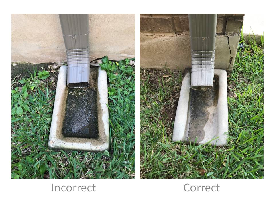 Install Gutter Splash Blocks So They Don T Hold Water