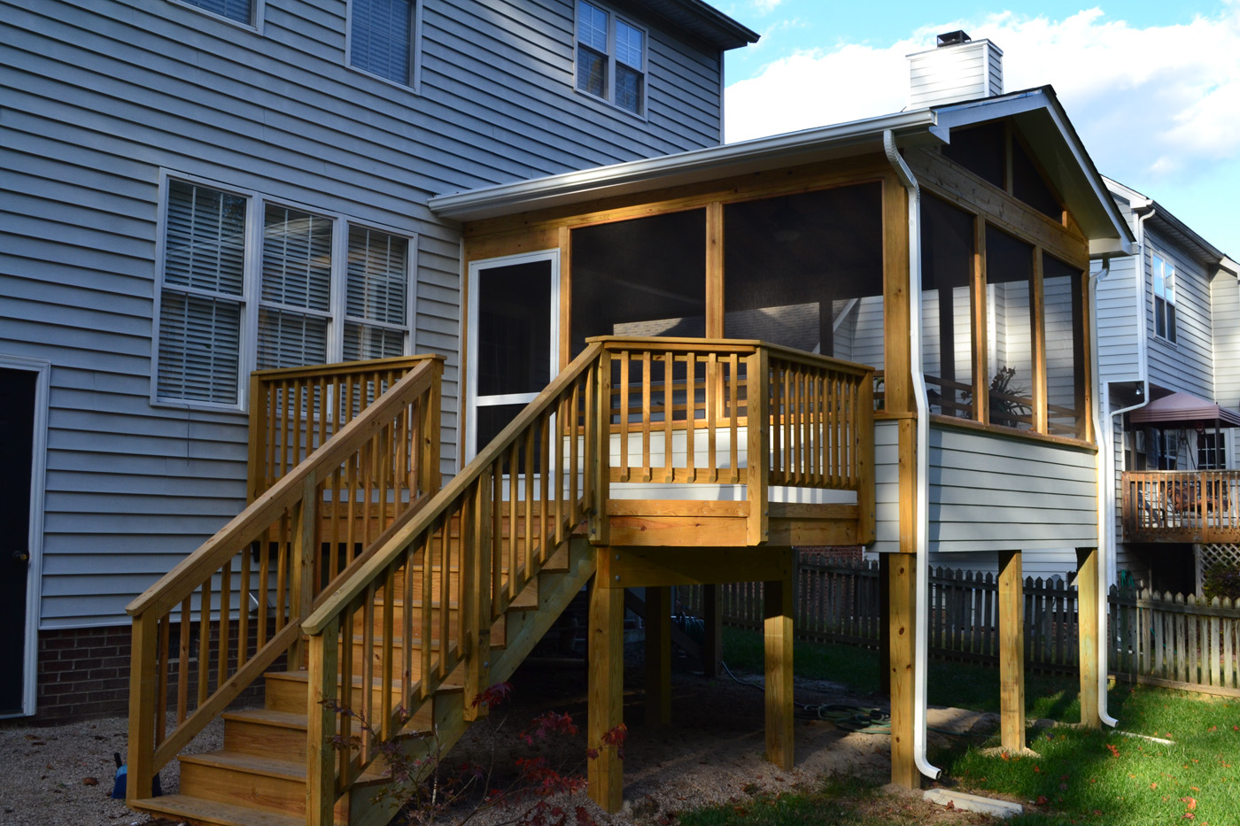 Raleigh Deck Transformed To Screened Porch
