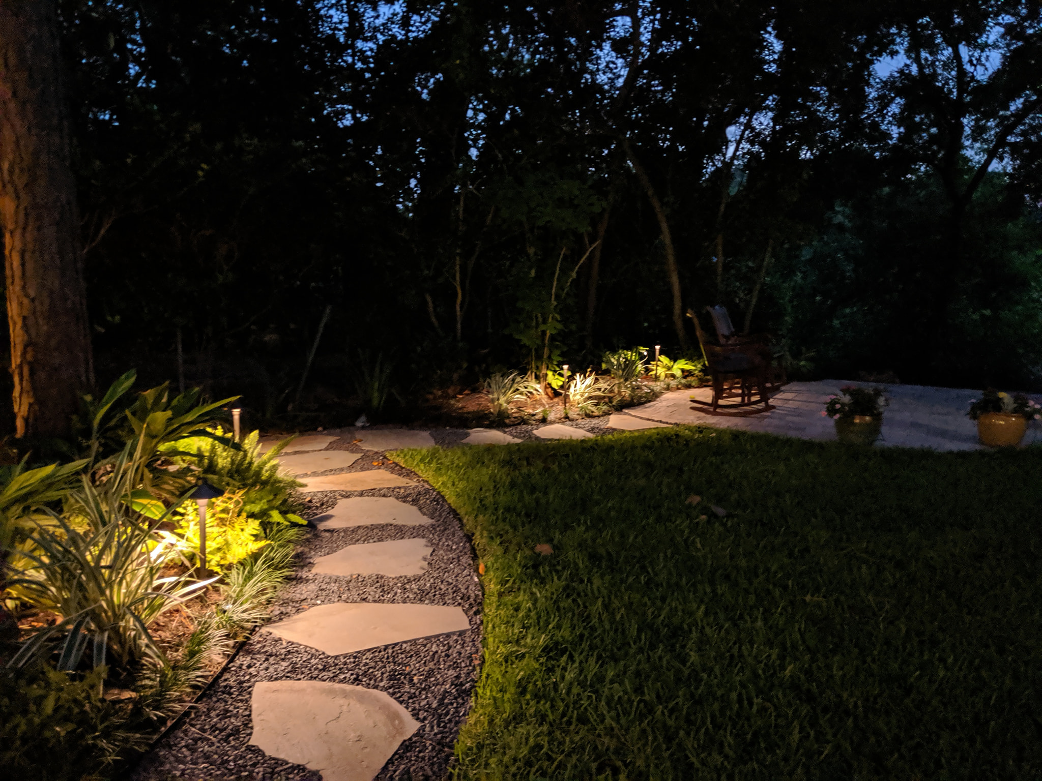 smart landscape lighting for easy navigation on your property