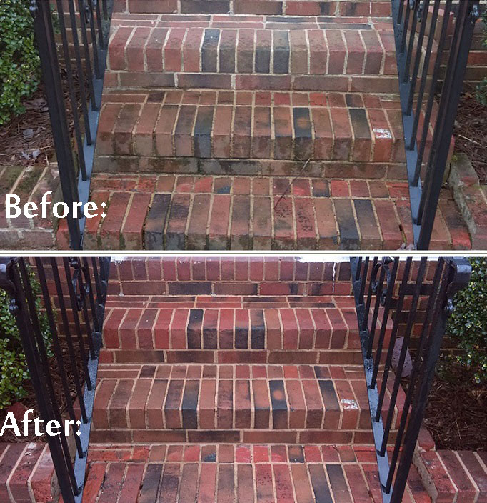Renew Crew brick cleaning before and after