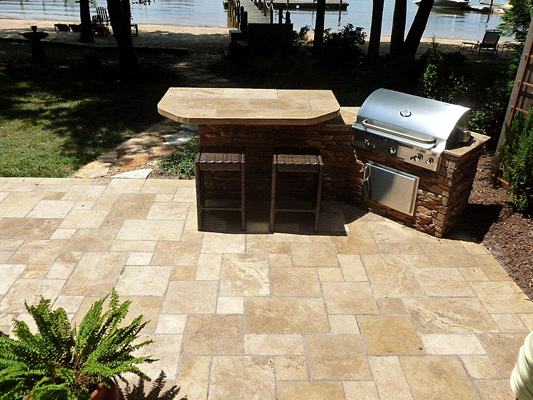 lakefront outdoor kitchen