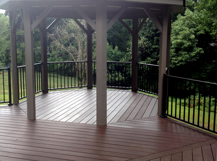 Winston Salem AZEK deck and gazebo