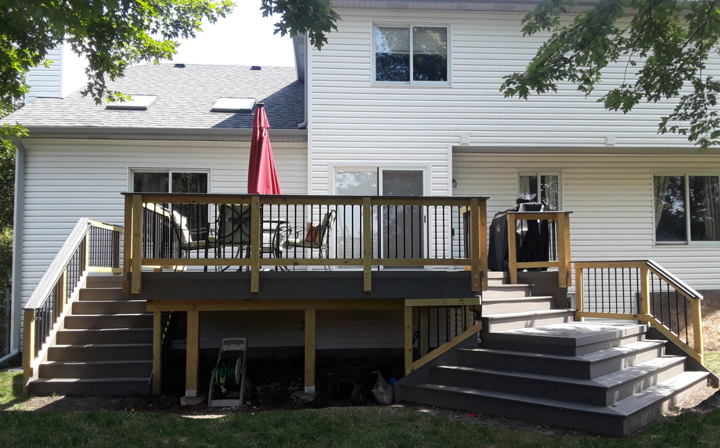 TimberTech Deck With Wrap Stairs in Bolingbrook, IL Thumbnail
