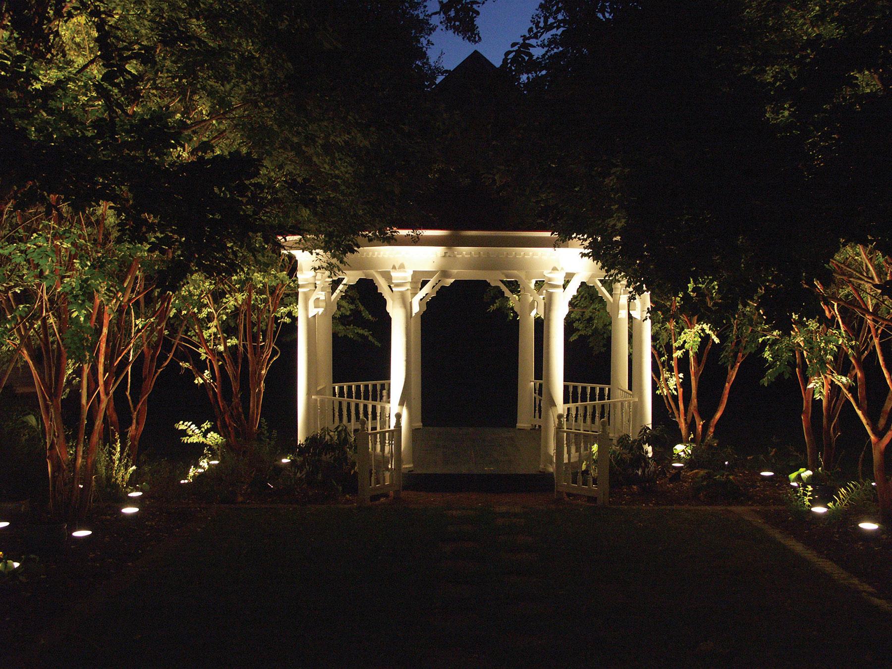 outdoor gazebo lighting Houston Texas