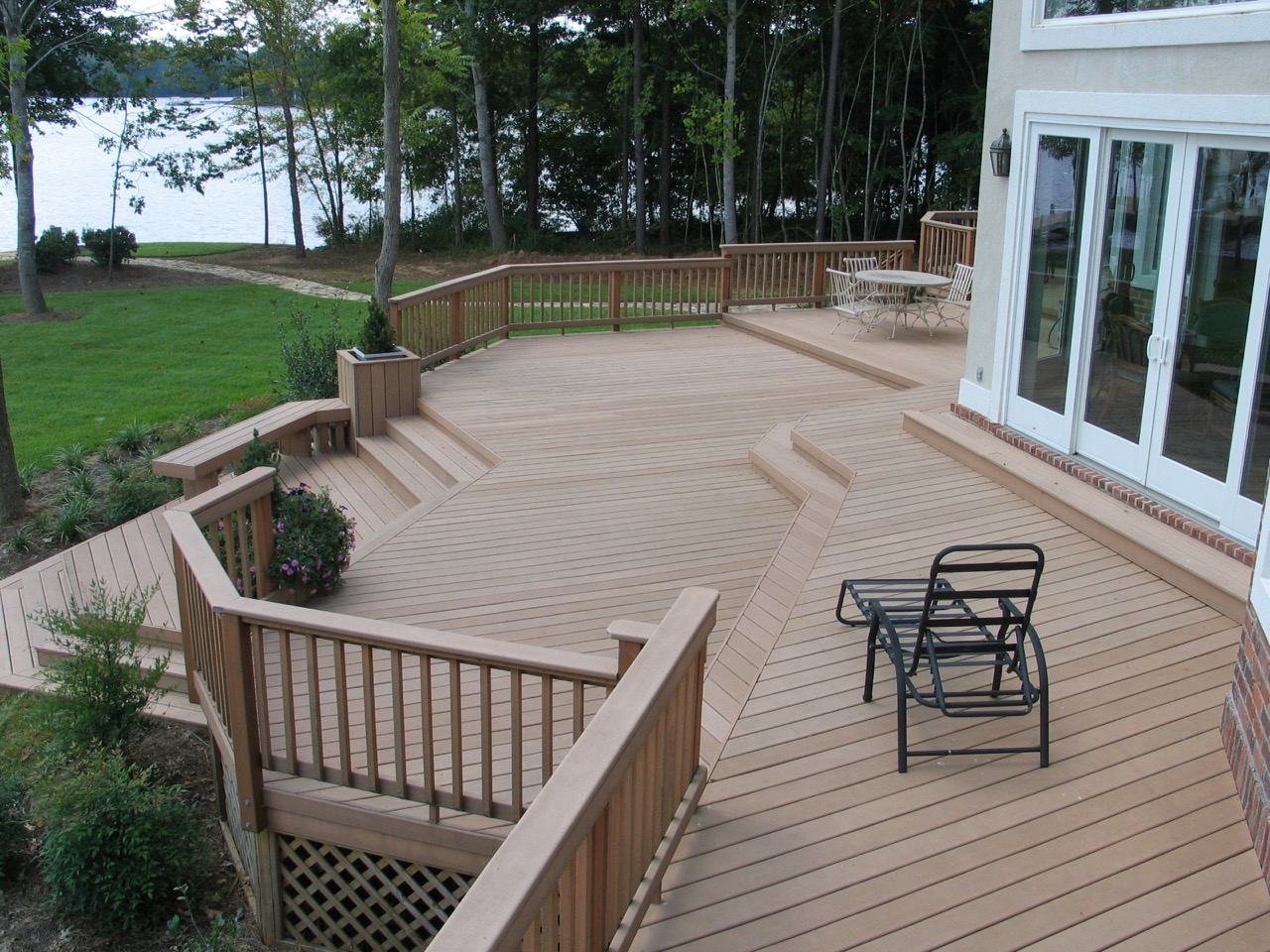 Mississauga ON Deck Builder Offers Small Yard Deck Solution With Gorgeous  Multi Level Composite Decks