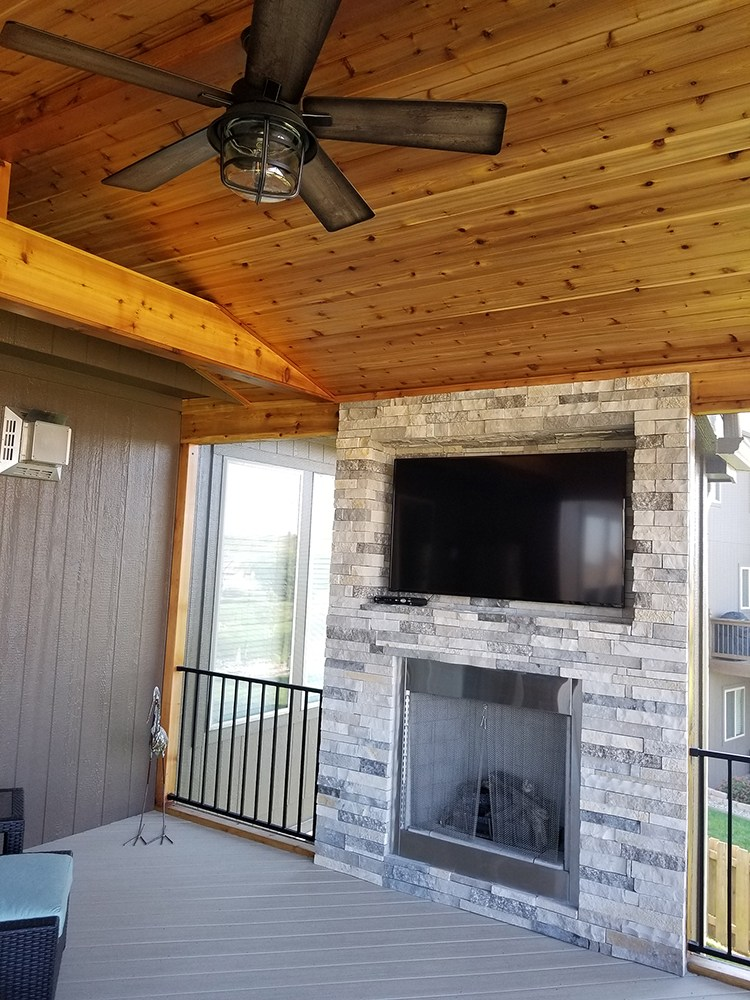 screened porch deck builder