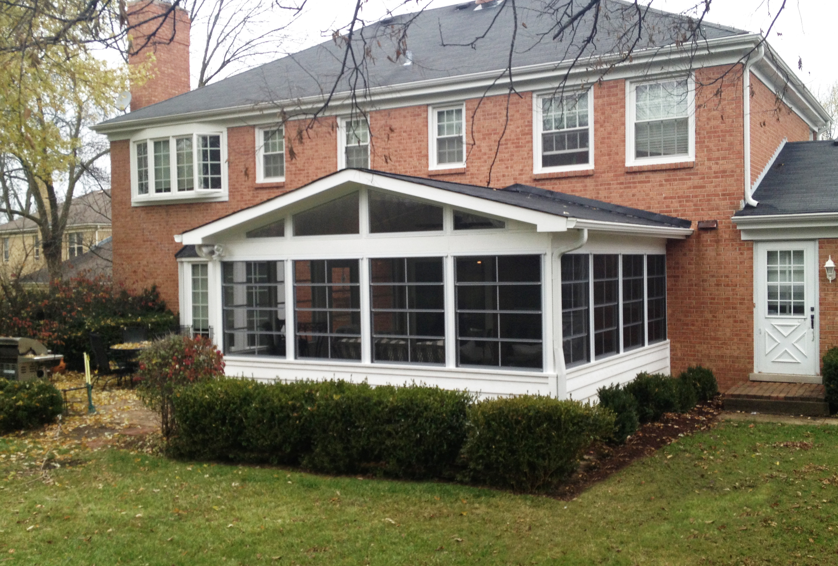 What roof style should your new chicagoland porch or for Shed roof screened porch plans