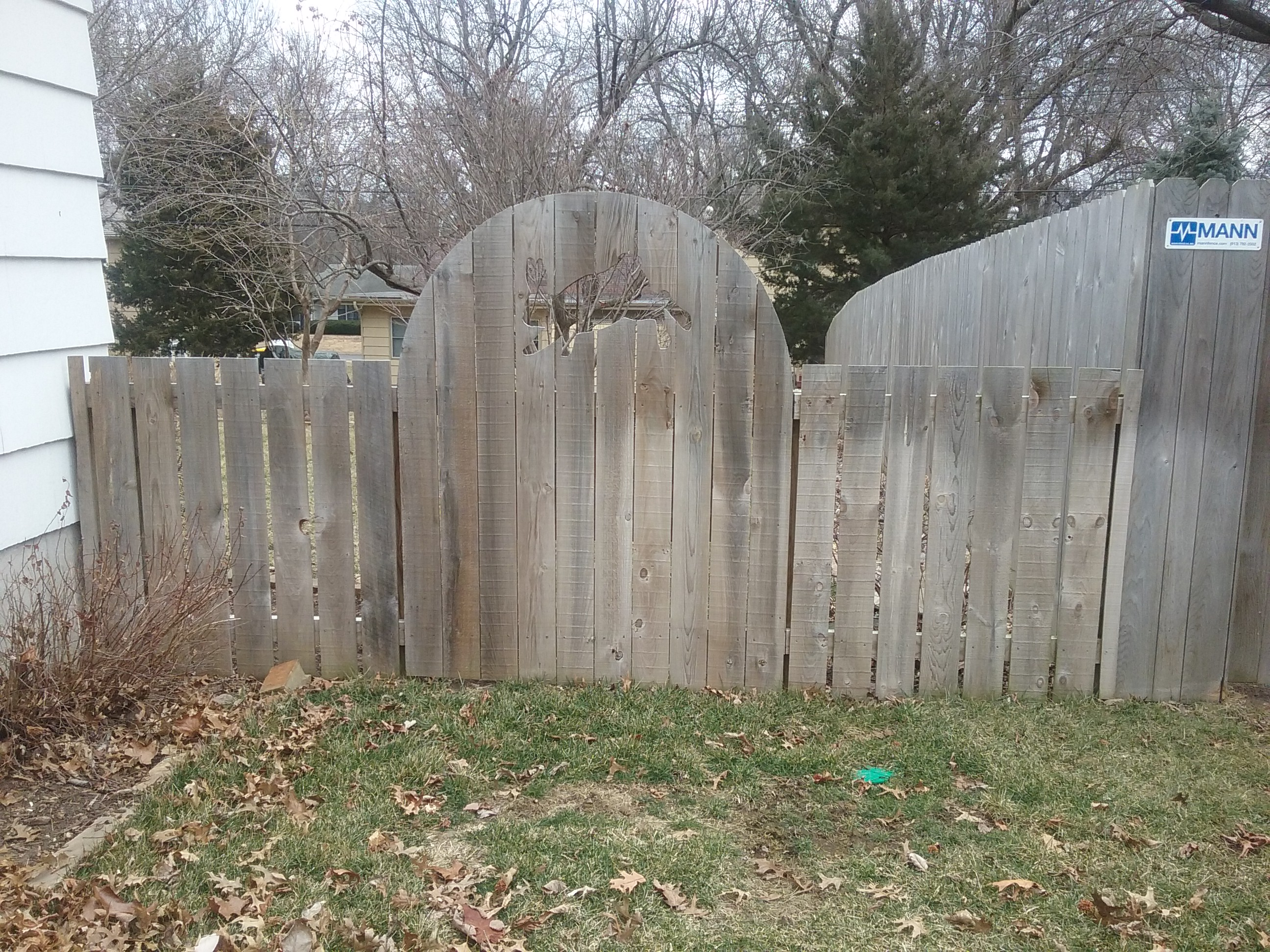 Before fence cleaning by Renew Crew of Johnson County