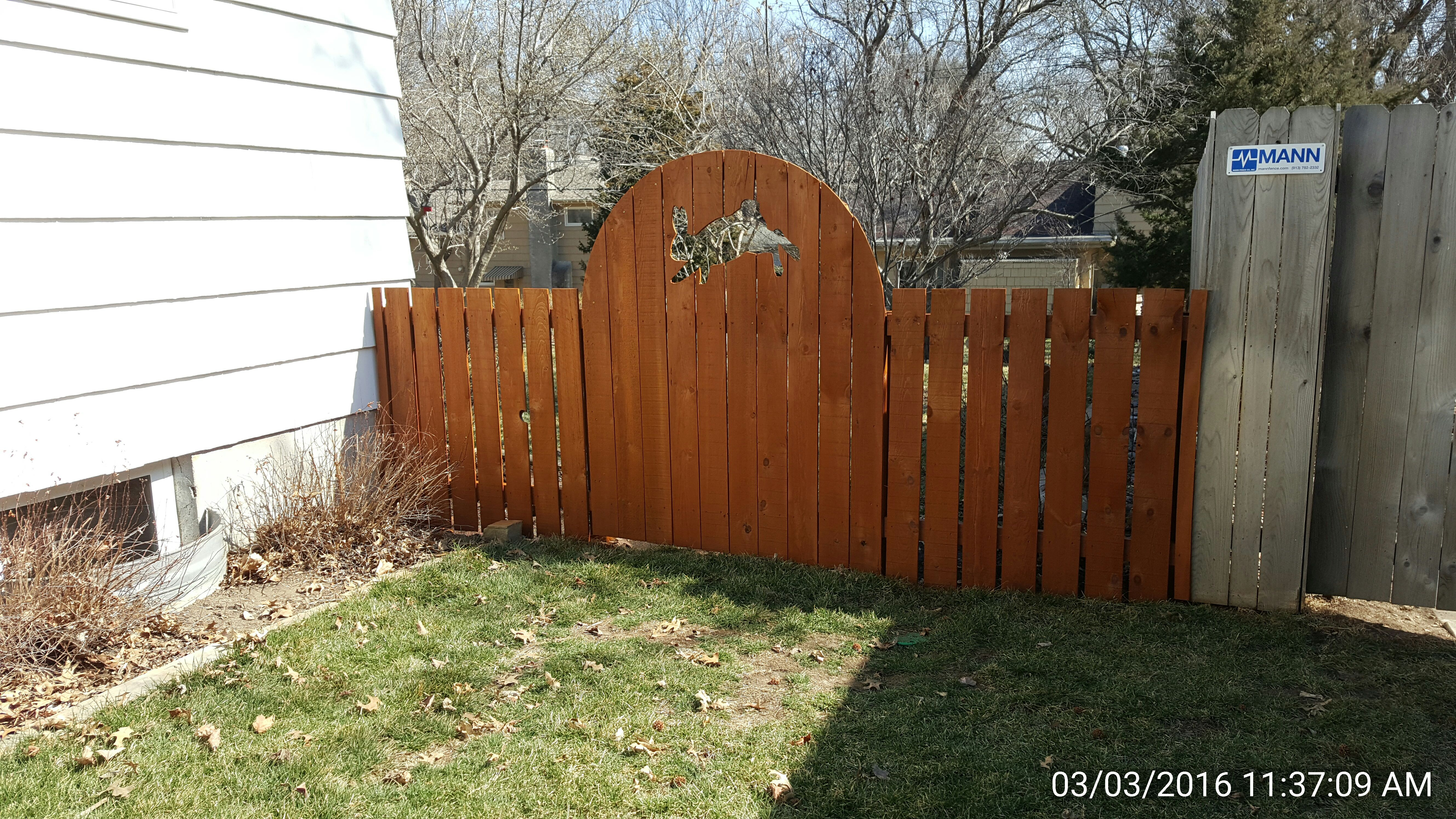 After fence cleaning by Renew Crew of Johnson County