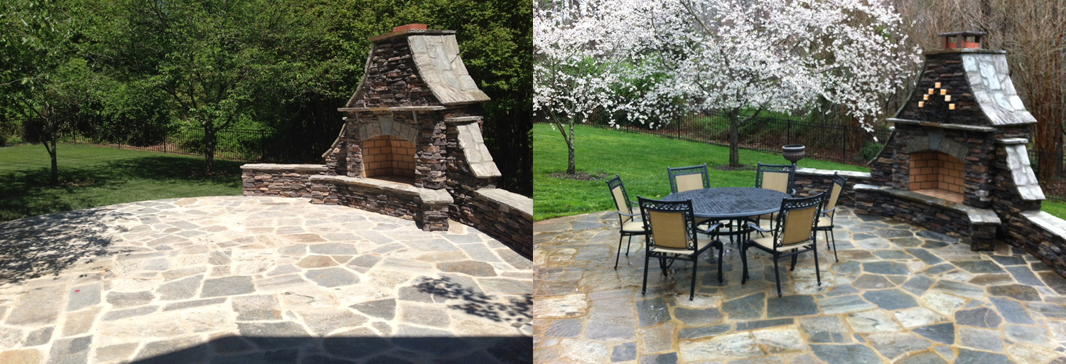 flagstone patio color variation